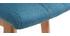 Taburete de bar madera y azul petróleo 65cm lote de 2 KLARIS