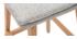 Taburete de bar madera y gris perla 65cm lote de 2 JOAN