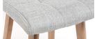 Taburete de bar madera y gris perla 65cm lote de 2 KLARIS