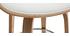 Taburete de bar moderno blanco y madera clara 65 cm ARAMIS