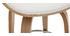 Taburete de bar moderno blanco y madera clara 65 cm WALNUT