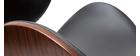 Taburete de bar moderno negro y madera oscura 65 cm WALNUT