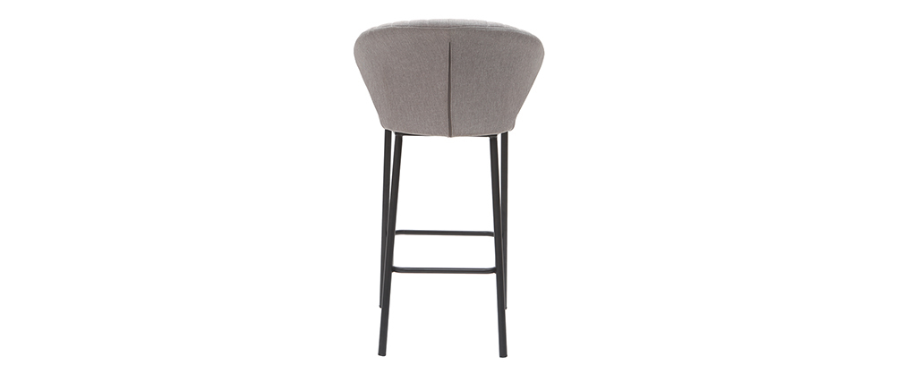 Taburete de bar moderno tejido gris 65 cm DALLY