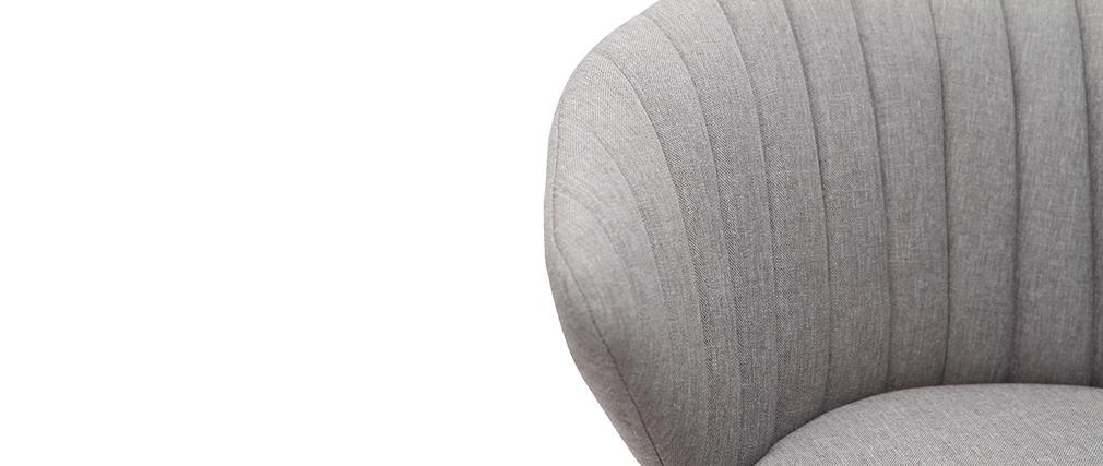 Taburete de bar moderno tejido gris 65 cm DALLY