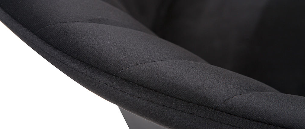 Taburete de bar moderno terciopelonegro 65 cm DALLY