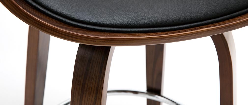 Taburete de bar moderno y madera oscura 65 cm BENT