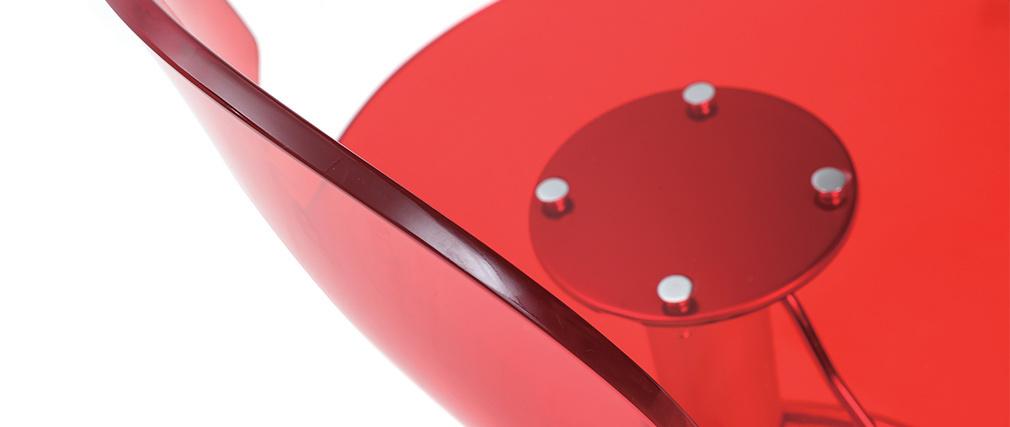 Taburete de bar ORION de metacrilato rojo transparente