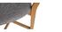 Taburete de bar roble y asiento gris jaspeado A65 cm LUCIA