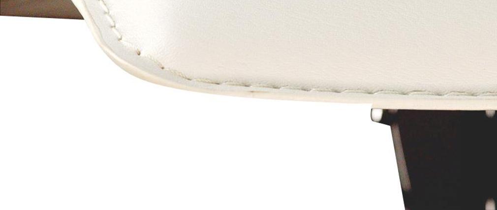 Taburete de bar surf alto color blanco (lote de 2)