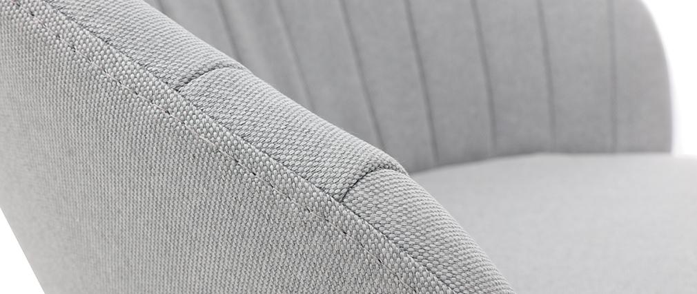 Taburete de bar tejido gris IZAAC