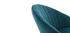 Taburete de bar terciopelo azul petróleo IZAAC