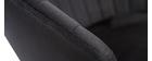 Taburete de bar terciopelo negro IZAAC