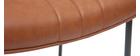 Taburete de bar vintage marrón claro y metal A65 cm GOTHAM