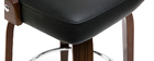 Taburete de bar vintage negro y madera oscura GARBO