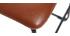 Taburete de bar vintage PU marrón claro 61cm lote de 2 NEW ROCK