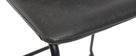 Taburete de bar vintage PU negro 61cm lote de 2 NEW ROCK