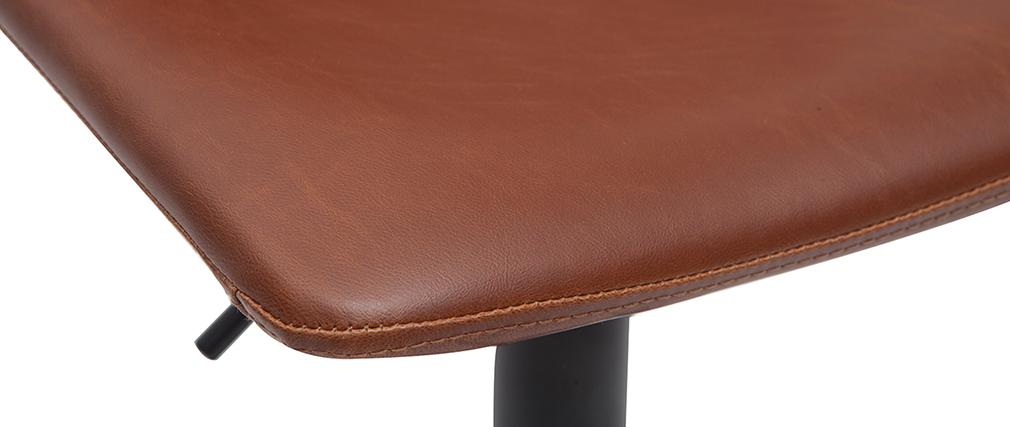 Taburete de bar vintage regulable PU marrón claro 61cm lote de 2 NEW ROCK