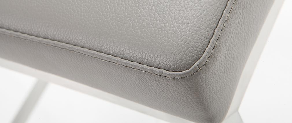 Taburete diseño 66cm gris lote de 2 EPSILON