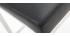Taburete diseño 66cm negro lote de 2 EPSILON