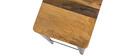 Taburete industrial acero y madera 75cm MADISON