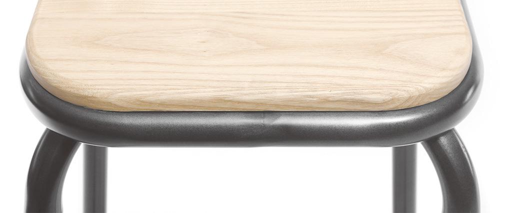 Taburete industrial inox lote de 2  A75cm MEMPHIS
