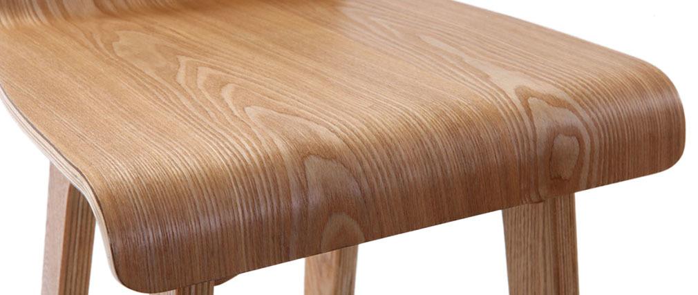 Taburete / silla de bar diseño madera natural escandinavo BALTIK