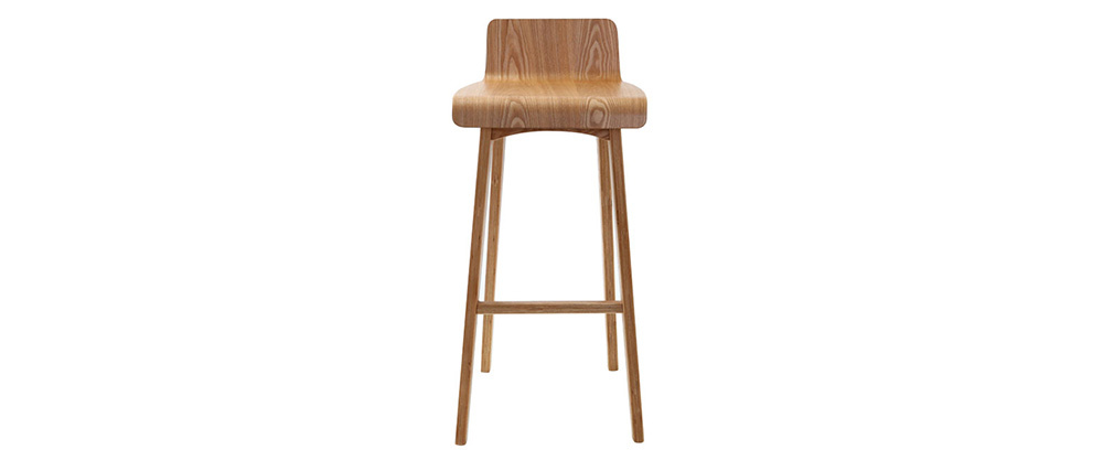 Taburete / silla de bar diseño madera natural escandinavo BLATIK