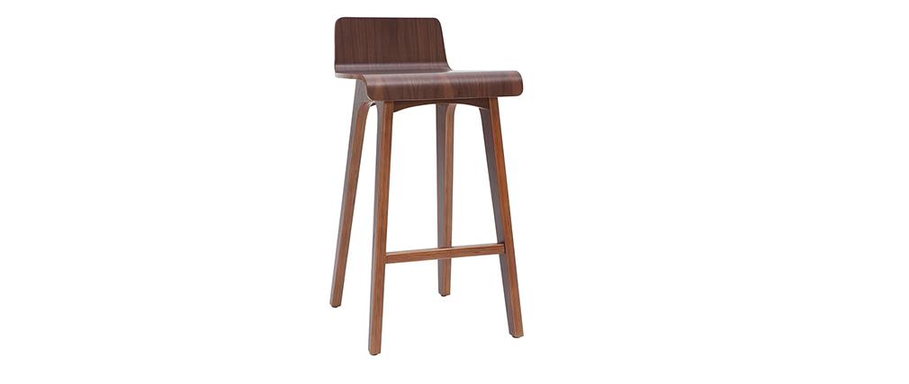 Taburete / Silla de bar madera oscura 65 cm BALTIK