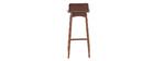 Taburete / Silla de bar madera oscura 75 cm BALTIK
