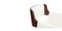 Taburete  vintage polipiel blanco y madera oscura RAY