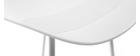 Taburetes de bar blancos A65 cm (lote de 2) ELLA