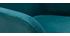 Taburetes de bar en tejido efecto terciopelo azul petróleo A65 cm (lote de 2) AMIKA