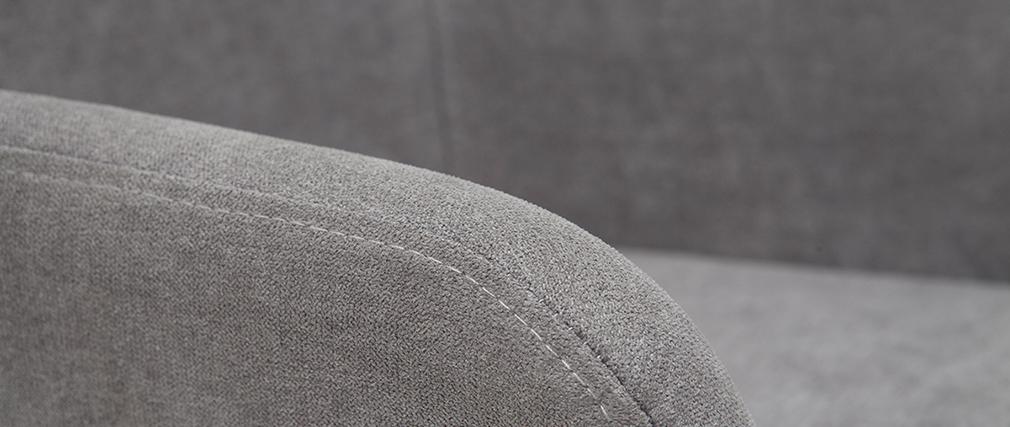 Taburetes de bar en tejido efecto terciopelo gris A65 cm (lote de 2) AMIKA