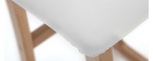 Taburetes de bar madera clara y PU blanco lote de 2 OSAKA