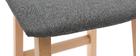 Taburetes de bar madera clara y tejido gris 72cm lote de 2 OSAKA