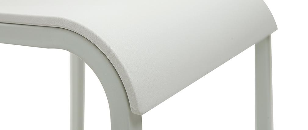 Taburetes de bar modenros apilables blancos A65 cm (lote de 2) KUPA