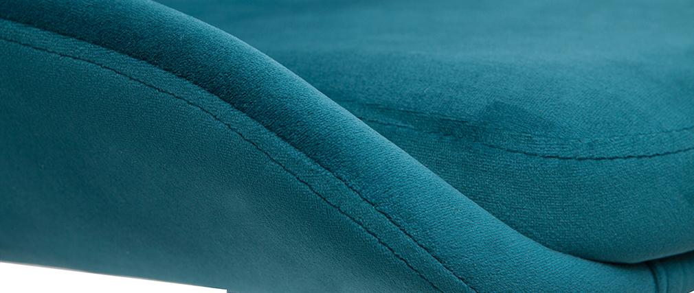 Taburetes de bar moderno regulables terciopelo azul petróleo (lote de 2) HOLO