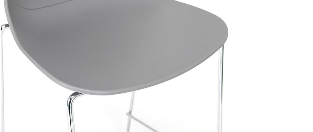 Taburetes de bar modernos apilables grises 76.5 cm - lote de 2 TROCADERO