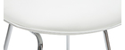 Taburetes de bar modernos blancos 65 cm (lote de 2) JUNE