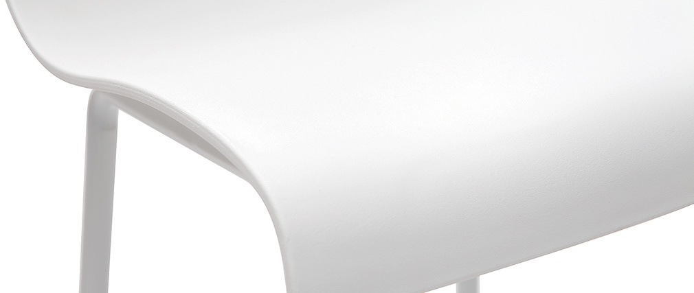Taburetes de bar modernos blancos 76 cm (lote de 2) ONA