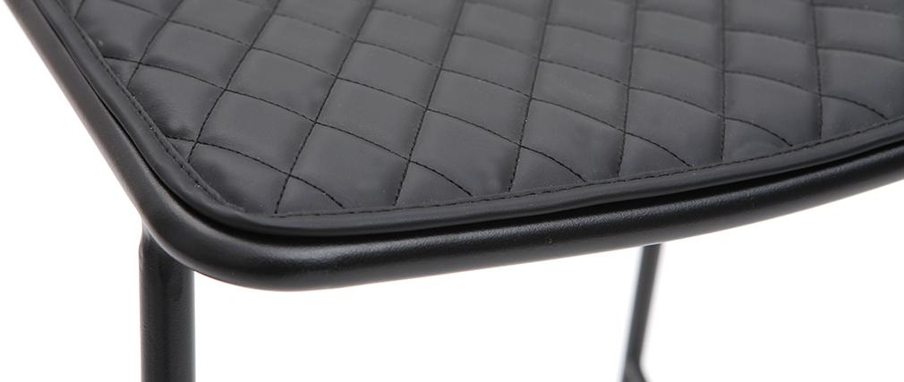 Taburetes de bar modernos en metal negro con cojín 65 cm (lote de 2) FEELING