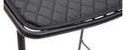 Taburetes de bar modernos en metal negro con cojín 75 cm (lote de 2) FEELING