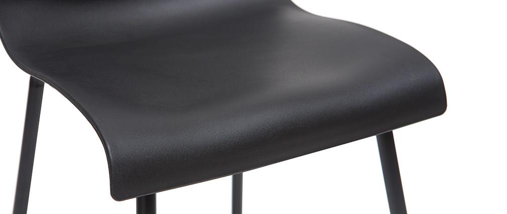 Taburetes de bar modernos negros 65 cm (lote de 2) ONA