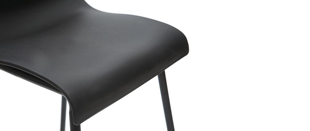 Taburetes de bar modernos negros 76 cm (lote de 2) ONA