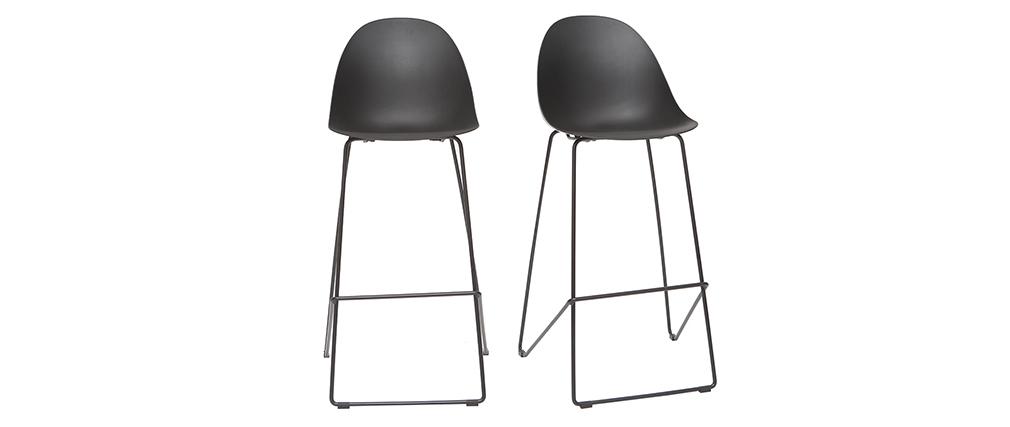 Taburetes de bar modernos negros 77 cm (lote de 2) CONCHA