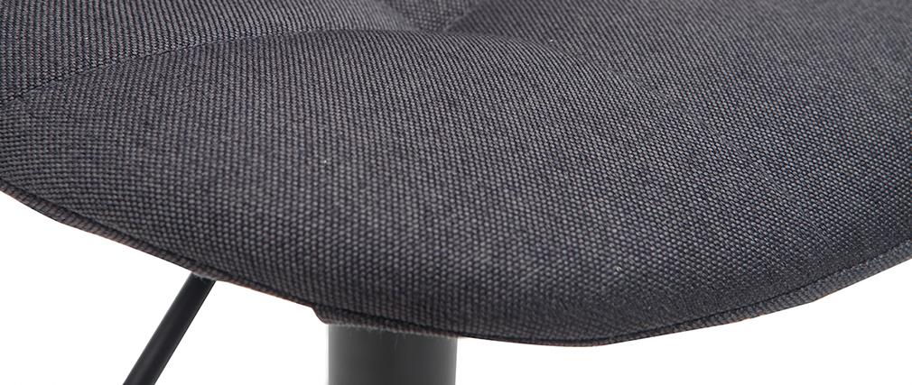 Taburetes de bar modernos regulables negro (lote de 2) COX