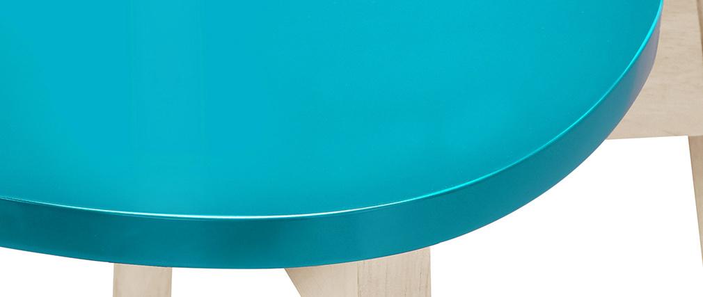 Taburetes de bar nórdicos azul petróleo 65 cm (lote de 2) LEENA