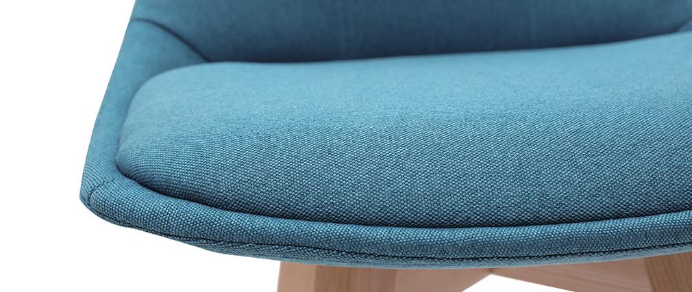 Taburetes de bar nórdicos azul petróleo 65 cm (lote de 2) MATILDE
