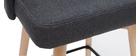 Taburetes de bar nórdicos giratorios gris oscuro A65 cm (lote de 2) HASTA