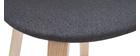 Taburetes de bar nórdicos gris oscuro A65 cm (lote de 2) NONIE
